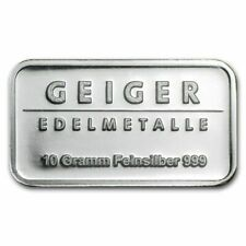 Germany Geiger 10gr .999 Fine Silver Bullion 'Schloss Güldengossa' Sealed & UNC