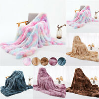 Large Soft Warm Fuzzy Fleece Blanket Throw Rainbow Flannel for Sofa Couch Bed