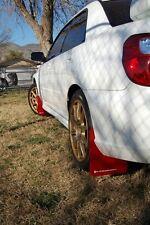 Rally Armor 02-07 Subaru WRX/STI/RS/2.5i (wagons req mod) UR Red w/ White Logo