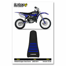 2002-2014 YAMAHA YZ 85 ALL BLACK WITH BLUE RIBBED SEAT COVER BY Enjoy MFG