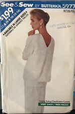 Butterick See & Sew pattern 5977 Misses/Petite Top & Skirt sz 6,8,10,12,14 uncut