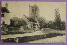 Postcard POSTED 1911 CHURCH & PROACHING CROSS IRON ACTON GLOUCESTERSHIRE