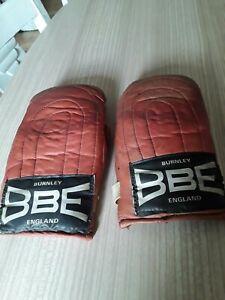 VINTAGE BBE BURNLEY ENGLAND  leather boxing gloves MENS