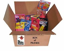 BOX OF PRANKS - Hand Buzzer Whoopee Cushion Itch Powder Jokes Pranks Gags Fun