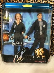 New In Box The X-Files Gift Set Barbie & Ken Collector Edition 1998 Mattel