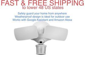 FREE SHIPPING New Maximus Floodlight Motion Security WiFi Camera Ring Nest Alexa