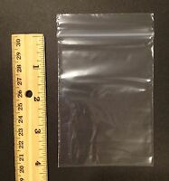 Reclosable 3x4 inch Plastic Zippy Bags Clear End-Zip 100 count FREE SHIPPING