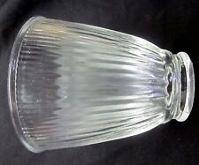 """Vintage scalloped clear glass lamp shade sconce fan wall light for 2-1/4"""" fitter"""
