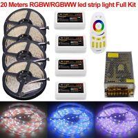 KIT 10M 20M 5050 RGBW RGBWW Mi 4-Zone Led Strip Light +Touch Remote +12V Power