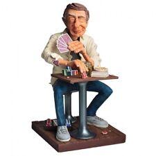 """Comic Art Figur-Skulptur- """"Der Pokerspieler"""" H 32 cm cm -mit Zertifikat  FO85548"""