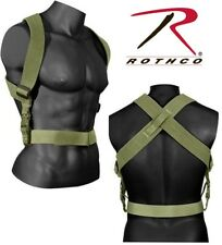 Combat Suspenders Tactical Adjustable Green Rothco 49195  (Belt sold separately)