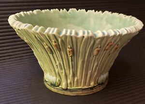 Weller Ware Ardsley Pattern Cattails  console bowl