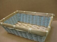 SMALL AQUA WICKER BASKETS GIFT TABLE DISPLAY HOME STORAGE CRAFTS