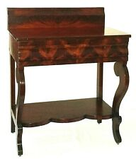 """Night Stand, small Server, Empire, mahogany, ogee drawer, 28""""w, c1840"""