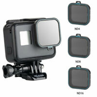 Portable 3pcs TELESIN Optical Glass ND4/8/16 Filter for Gopro Hero 5 & 6 Camera