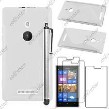 Housse Etui Coque Silicone S-line Transparent Nokia Lumia 925 + Stylet + 3 Films