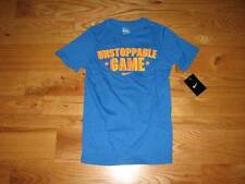 NEW Boys NIKE Unstoppable Game Youth S/S T-Shirt Size M 10-12 Medium Shirt Blue