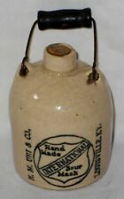 RARE Antique Stoneware Mini Jug N.M.Uri Co International Sour Mash Whiskey L@@K!