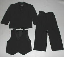 Toddler Boys GINO GIOVANNI Black 3 Piece Suit Size 3T