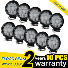 WOW - 10X 27W LED Work Light Offroad Lamp Floodlight Round Truck Car 4WD UTE 12V