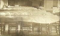 Supply or Fort Supply OK Insane Hospital Dining Room Real Photo Postcard