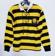 ROWING BLAZERS BLACK & YELLOW STADE MONTOIS 1963 AUTHENTIC RUGBY JERSEY XS (066)