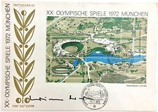 1972 Munich Olympics First Day Of Issue Cover SIGNED by Chancellor Willy Brandt