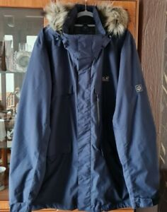 Jack Wolfskins Navy Blue Jacket With Texapore Size 2xl New No Tags r.r.p £250
