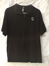 Scott Men's Polo Size L Black Cycling EUC