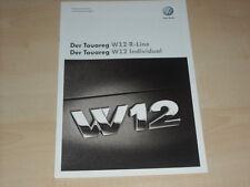 59293) VW Touareg W12 R-Line - individual Preise & Extras Prospekt 05/2008