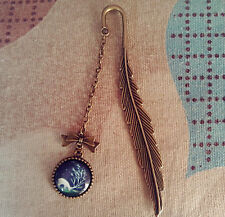 GIFT Vintage Feather Bookmark Charm Pendant Stationery Label Book Holder-XL4