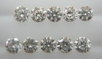 1-1.1mm 10pc 0.06cts Natural Loose Brilliant Cut Diamond G-H Color SI Clarity
