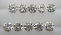 0.8-1mm 10pc 0.04cts Natural Loose Brilliant Cut Diamond G-H Color SI Clarity