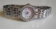 Silver Finish Designer Inspired Style Hip Hop Bling Geneva Fashion Watch