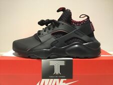 Nike Air Huarache Run Ultra se ~ 875841 005 ~ Negro/Rosa ~ UK Size 10