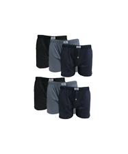 6 pezzi di boxer uomo in cotone 100% con apertura e bottone colori assortiti 6BX