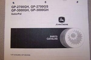 JOHN DEERE PARTS CATALOG GP-2700 GH, GP-2700GS, GP-3000GH, GP-3000GH