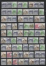 1977 - 1987 Bund Burgen und Schlösser BuS Los C/D Werte und ZDR gestempelt