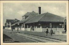 Sudbury Ontario CPR RR Train Station Depot Old Postcard