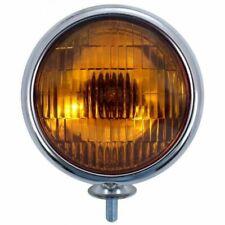 6V Vintage Chrome Fog Light - Amber Lens
