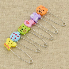 6pcs Cartoon Animal Stainless Steel Safety Pins Hand Sewing Needles Tools DIY