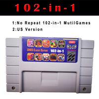 Classic No Repeat Mutil-Games 102in1  SNES Game US/Canada Version