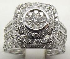 SOLID 14CT WHITE GOLD BRIDAL DIAMOND RING SET- ENGAGEMENT & WEDDING-VALUE $6010