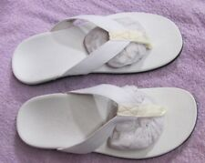 BNIP AXIGN™ UK10 UNISEX ORTHOTIC ARCH SUPPORT SANDAL THONGS IN WHITE