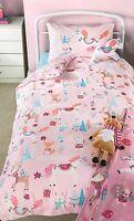 XMAS Unicorn TODDLER COTBED Printed Duvet Cover Childs Bedding Set Festive set