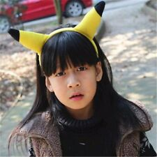 New Pokemon go Pikachu Yellow Tail and Ears Hair Clasp Anime Cosplay Costume