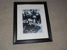 "Framed Beatles & Muhammad Ali 1964 Print Mini Poster, 14""x17"", Beautiful #2"