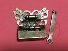 Chinese Old Small Padlock & Butterfly Lock Latch Clasp For Cabinet Jewelry Box
