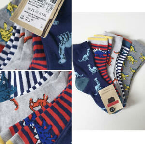 New Boys Socks 5 Pack Ex M&S Cool & Freshfeet Age 2 -16 Years Dinosaur Mix