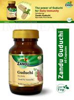 Zandu Guduchi for Immunity, Liver Funtion, Skin Disorders, 60 Capsules